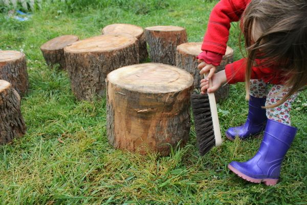 Planning a natural playground: Salvaged timber kids ...