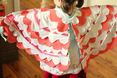 Dress up wings made from recycled t_shirts 4