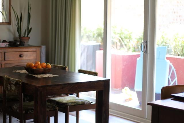 Solar cooking on the verandah