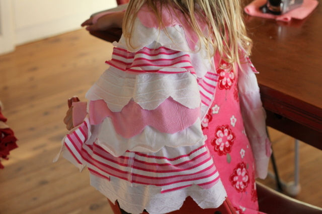 Kids dress up wings made from old t-shirts 6