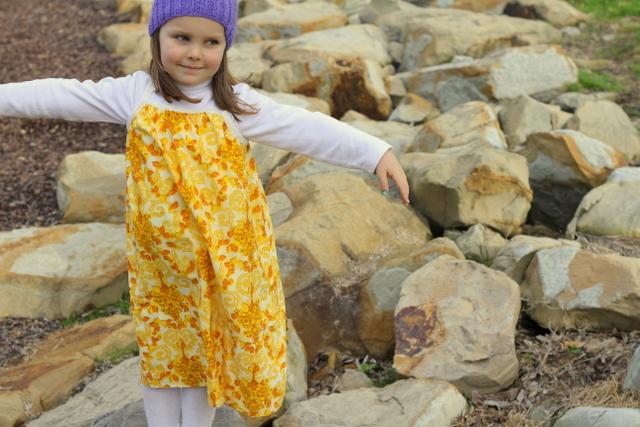 Pillow slip dress yellow 2