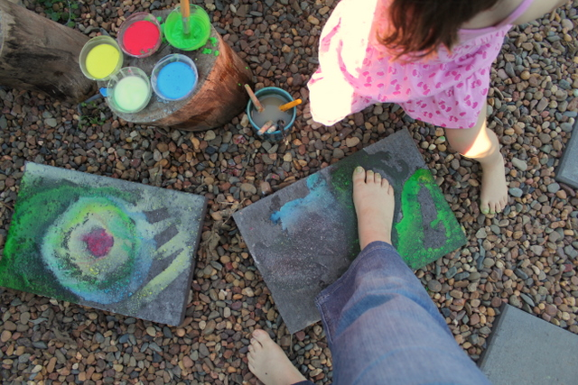 Action pack issue 5 cornflour chalk painting