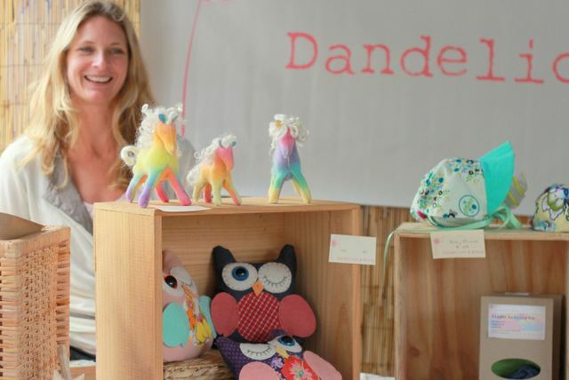 Karla MacLean and her Dandelion and Honey creations - Fig Tree Markets - Tricia Hogbin little eco footprints
