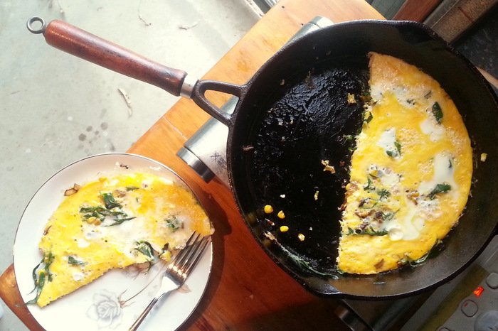 Foraged Greens Frittata