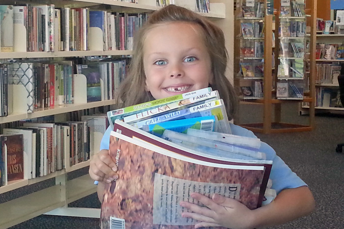 Little Eco taking advantage of what our local library has to offer-001