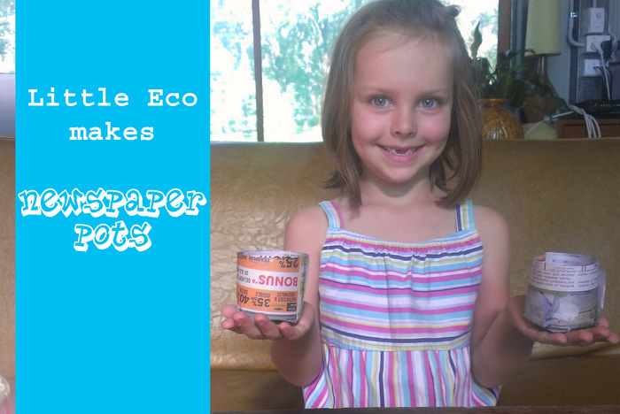 Little Eco makes newspaper pots - a how to video