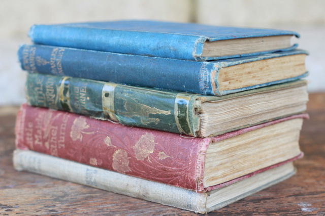 Old books LIttle Eco Footprints