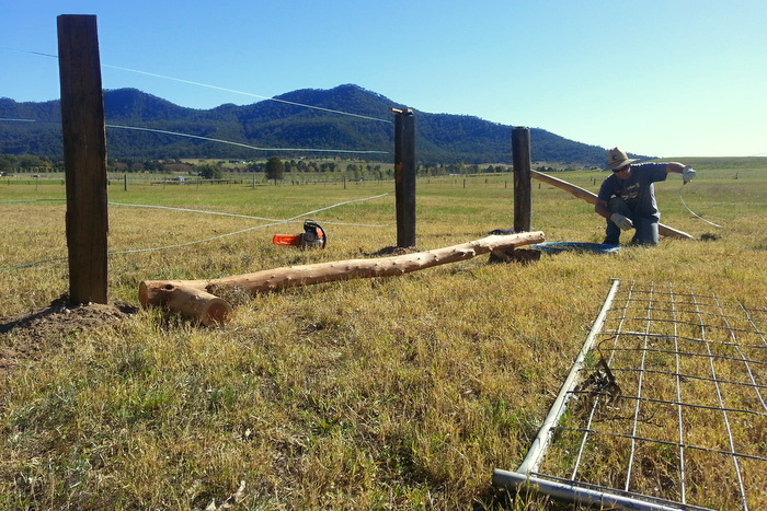 The sense in eco-villages. Chores like fencing and the equipment needed are shared