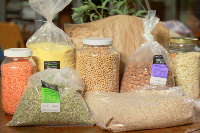 Part of our quarterly bulk food buy. Buying food in bulk is a great way to save money and reduce packaging