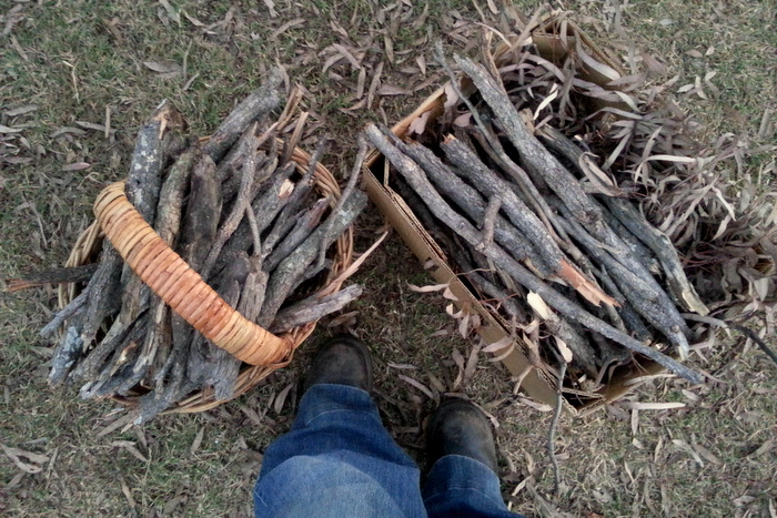 9. Winter was....when kindling collection became one of my favourite moments of the day
