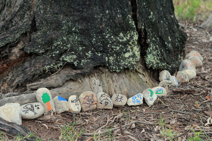 Counting-down-the-days-to-Christmas-using-our-home-made-advent-calendar-made-from-rocks. Little eco footprints