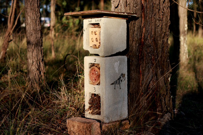 Handmade-native-solitary-bee-hotel. Little eco footprints