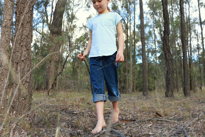 Barefoot bushwalking Little eco footprints