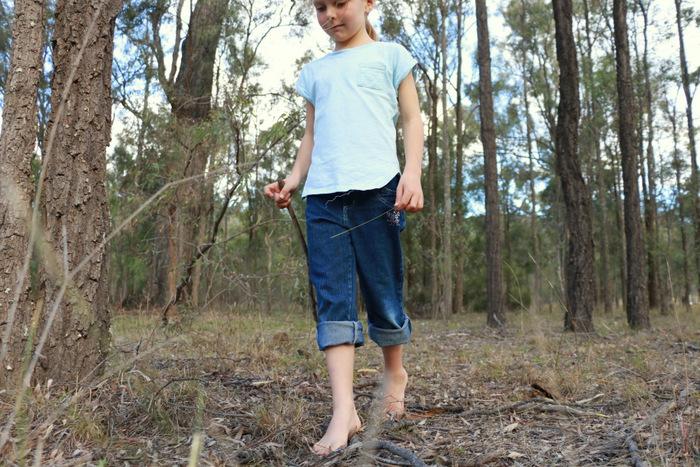 Barefoot bushwalking Little eco footprints