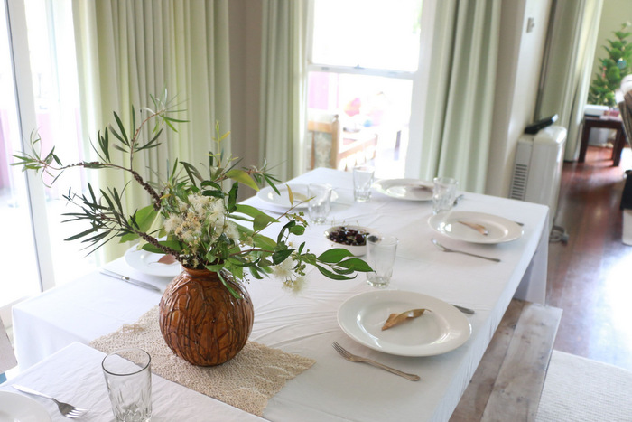 Simple green and sustainable Christmas table decorations Little eco footprints