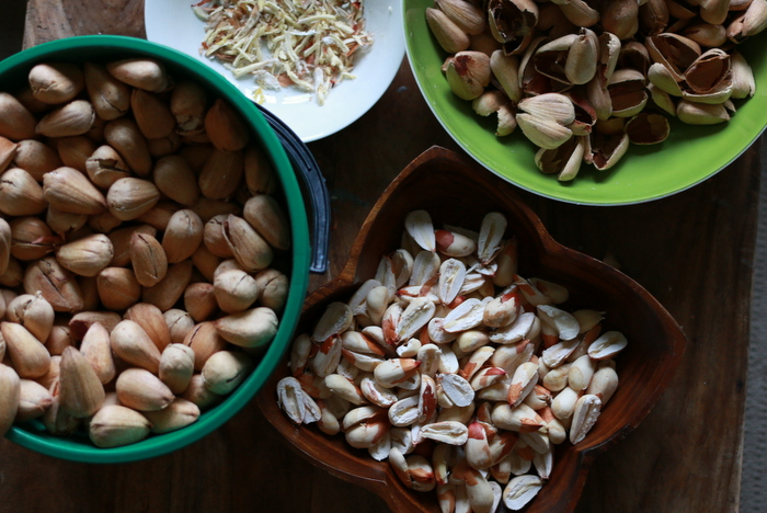 How to shell bunya nuts. Little eco footprints