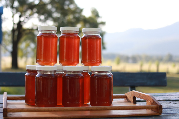 Happiness is the first proper harvest of honey from our little farm. Little eco footprints