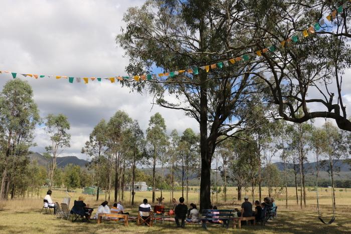 Jason's Kathina celebration at our little farm. Little eco footprints