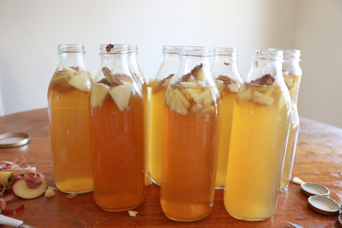 How to make water kefir. Second ferment with apple and cinnamon. Little eco footprints.