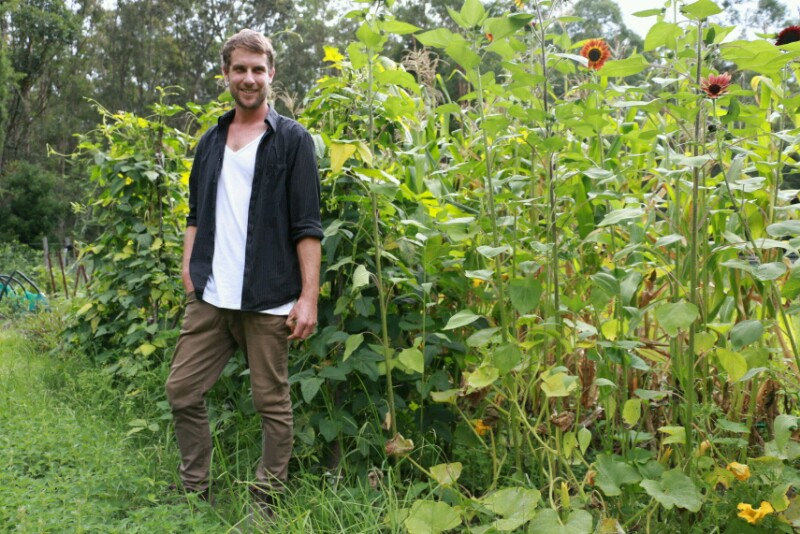 Marco Forman, one of the young farmers that will create a sustainable and diverse biodynamic farm at Shepherds Ground. Tricia Hogbin-800x534