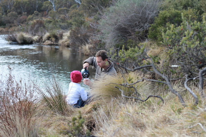 A family bushwalk and hot chocolate. Making time for what is important. Little eco footprints