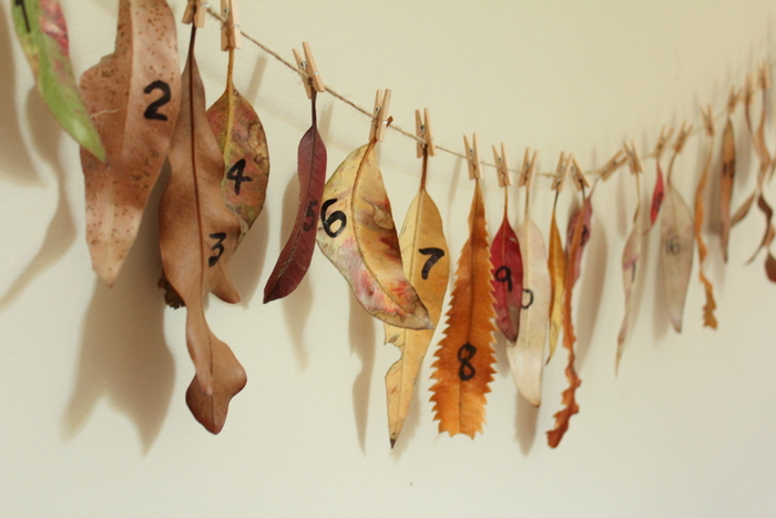 Homemade advent calendar 2012. Tricia Hogbin