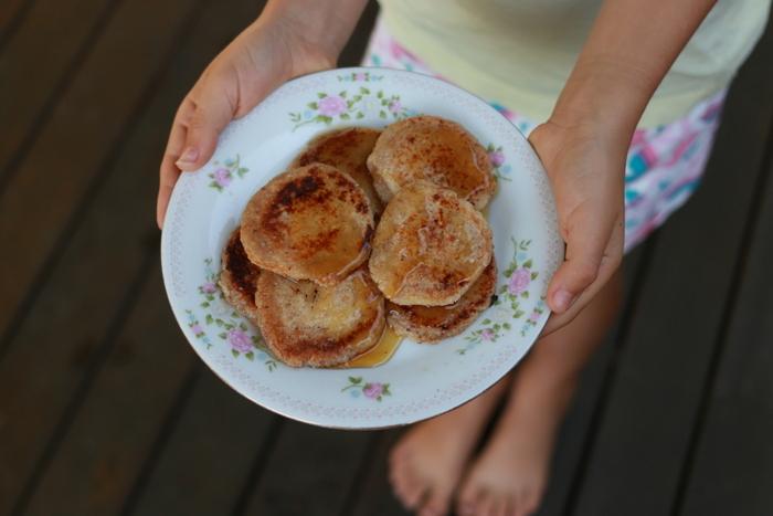 Bunya nut flat bread pikelets. Little eco footprints