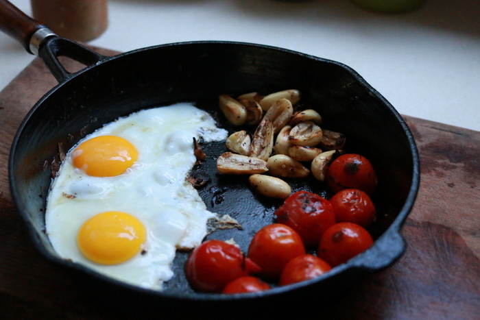 Eggs with a side of bunya nuts. Little eco footprints