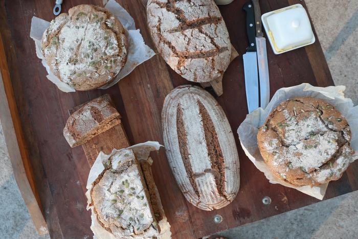 Sourdough bread served at Jason's Kathina celebration. Little eco footprints