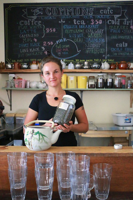 Nissa Phillips, Common Sustenance project coordinator at The Commons Cafe. Little eco footprints