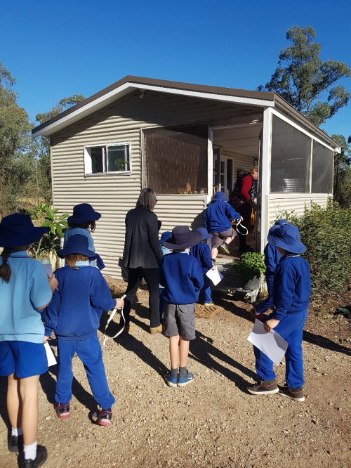 Small school visits tiny home 2